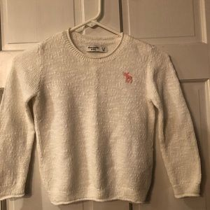 White Knit Abercrombie Sweater